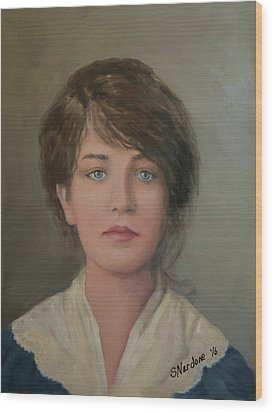 Young Irish Woman On Eliis Island Wood Print