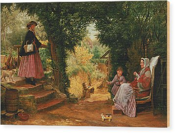 Young Lady Bountiful Wood Print by Richard Redgrave