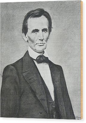 Young Lincoln Wood Print by Richard Barone