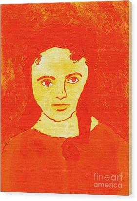 Young Liz Taylor 1 Wood Print by Richard W Linford