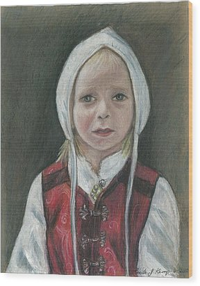 Young Norwegian Girl            Wood Print