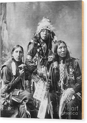 Young Sioux Men, 1899 Wood Print by Granger