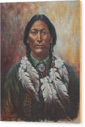 Young Sittingbull Wood Print by Harvie Brown