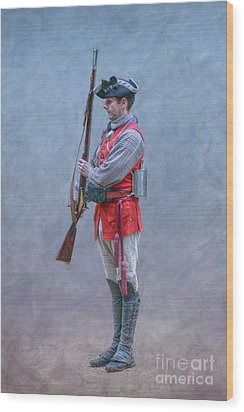 Wood Print featuring the digital art Young Soldier With Rifle by Randy Steele