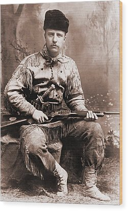 Young Theodore Roosevelt Dressed Wood Print by Everett
