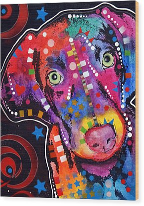 Young Weimaraner Wood Print by Dean Russo