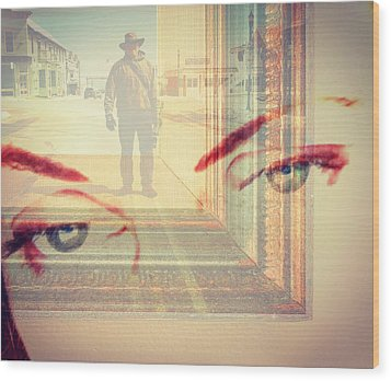 Your Eyes Only Wood Print by Theresa Marie Johnson