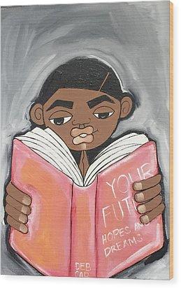 Your Future Boy Wood Print