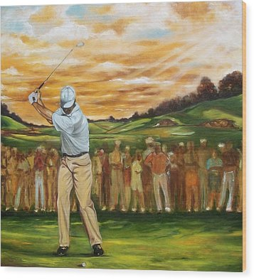 Wood Print featuring the painting Your Golf by Emery Franklin