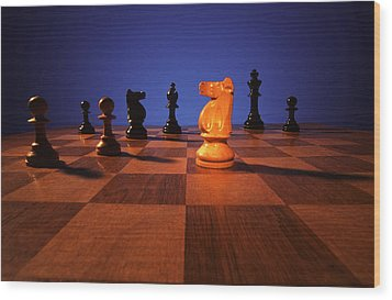 Your Move Wood Print by Gerard Fritz