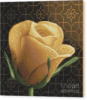 Your Rose Wood Print by Stoyanka Ivanova