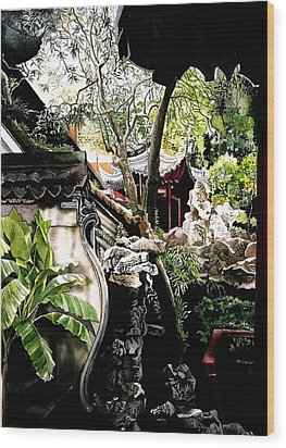 Yu Garden In Shanghai Wood Print by Alfred Ng
