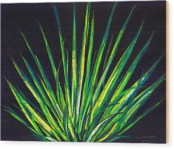 Yucca Wood Print by Melvin Moon