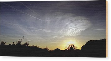 Yucca Sunset Wood Print