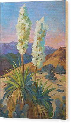 Yuccas Wood Print by Diane McClary