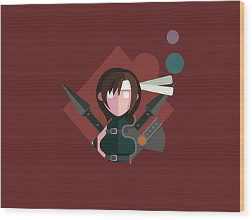 Yuffie Wood Print by Michael Myers