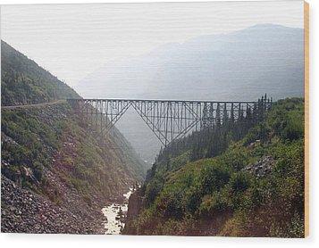 Wood Print featuring the photograph Yukon Railroad Bridge by Jack G  Brauer