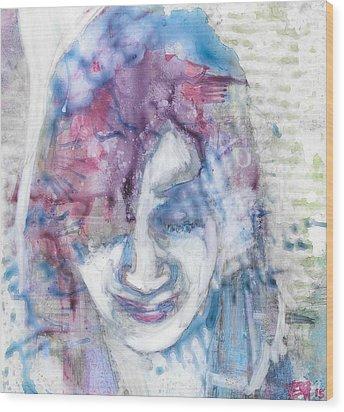 Yupo Portrait Wood Print by Vanessa Baladad