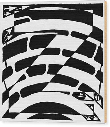 Z Maze Wood Print by Yonatan Frimer Maze Artist