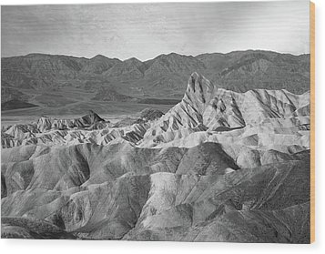 Zabriskie Point Landscape Wood Print