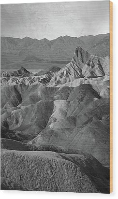 Zabriskie Point Portrait Wood Print