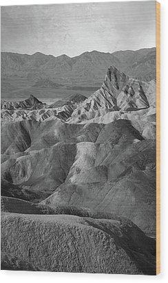 Zabriskie Point Portrait Wood Print by Marius Sipa