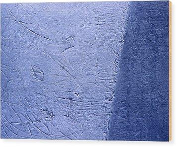 Zambonied Ice Wood Print by Ken Yackel