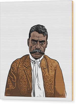 Zapata Wood Print by Antonio Romero