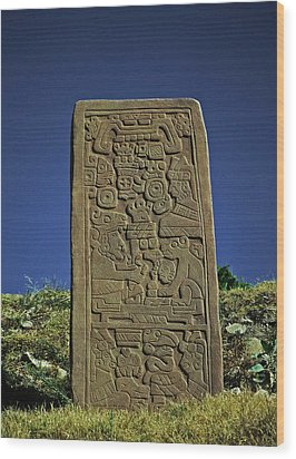Zapotec History Wood Print by Juergen Weiss