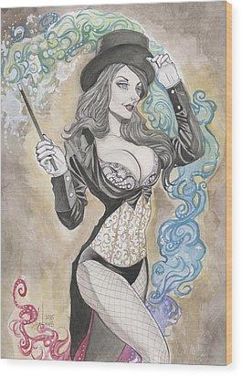 Zatanna Zatara Wood Print