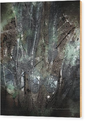 Zauberwald Vollmondnacht Magic Forest Night Of The Full Moon Wood Print by Mimulux patricia no No