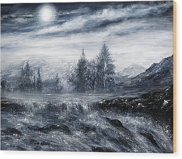 Zealous Waters Wood Print by Ann Marie Bone