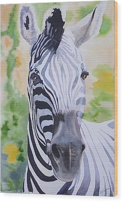 Zebra Crossing Wood Print by Ally Benbrook