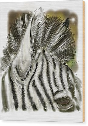 Zebra Digital Wood Print