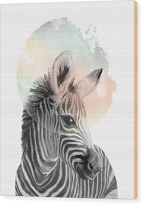 Zebra // Dreaming Wood Print