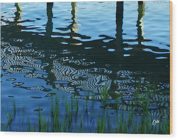 Wood Print featuring the photograph Zebra Reflections by Phil Mancuso