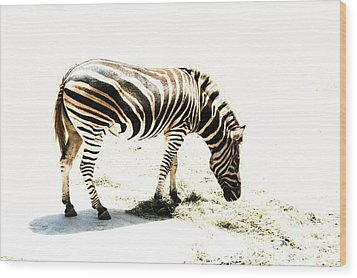 Zebra Stripes Wood Print by Stephen Mitchell