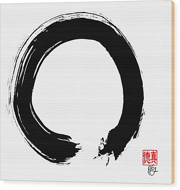 Zen Circle Five Wood Print