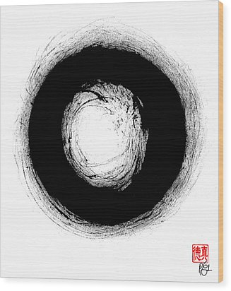Zen Circle Three Wood Print