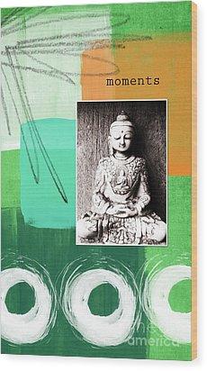 Zen Moments Wood Print by Linda Woods