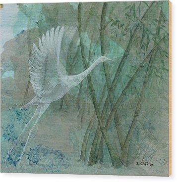 Zen Morning Wood Print by Sandy Clift