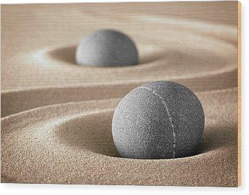 Wood Print featuring the photograph Zen Stone Garden by Dirk Ercken