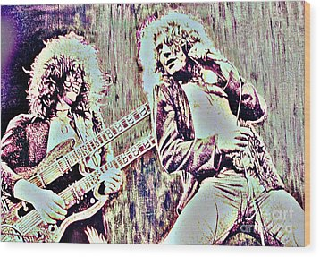 Zeppelin Concert On Wood  Wood Print