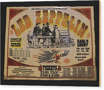 Zeppelin Express Wood Print by David Lee Thompson
