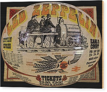 Zeppelin Express Work B Wood Print by David Lee Thompson