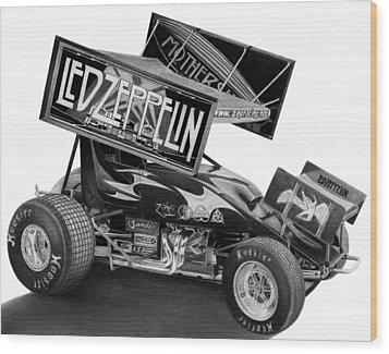 Zeppelin Sprinter Wood Print by Lyle Brown