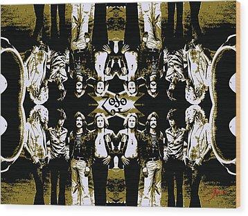 Zeppelin Times Four Wood Print by Dancin Artworks