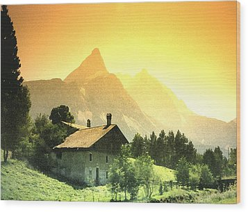 Zermatt Sunset   William Kaluta Artist Wood Print by William Kaluta