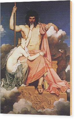 Zeus And Thetis  Wood Print by Jean Auguste Dominique Ingres