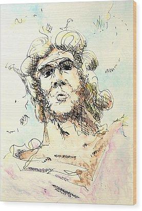 Zeus Wood Print by Dave Martsolf